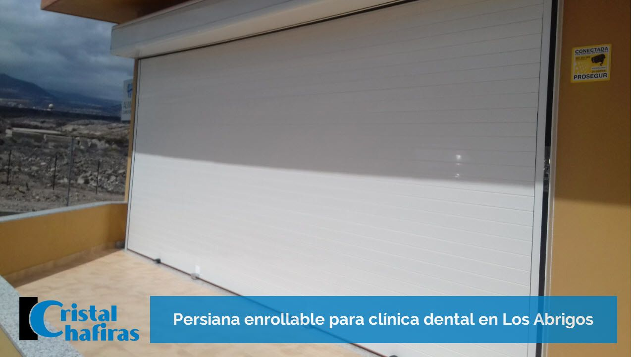 persiana enrollable clínica dental los abrigos tenerife